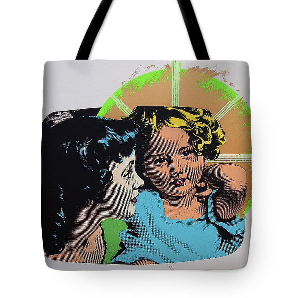 Madonna And Child Tote Bag featuring the mixed media Madonna De Milo by Charles Stuart
