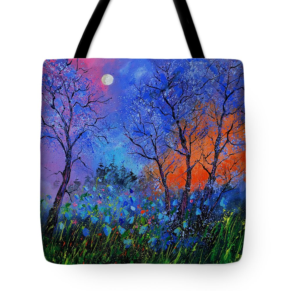 Landscape Tote Bag featuring the painting Magic wood by Pol Ledent