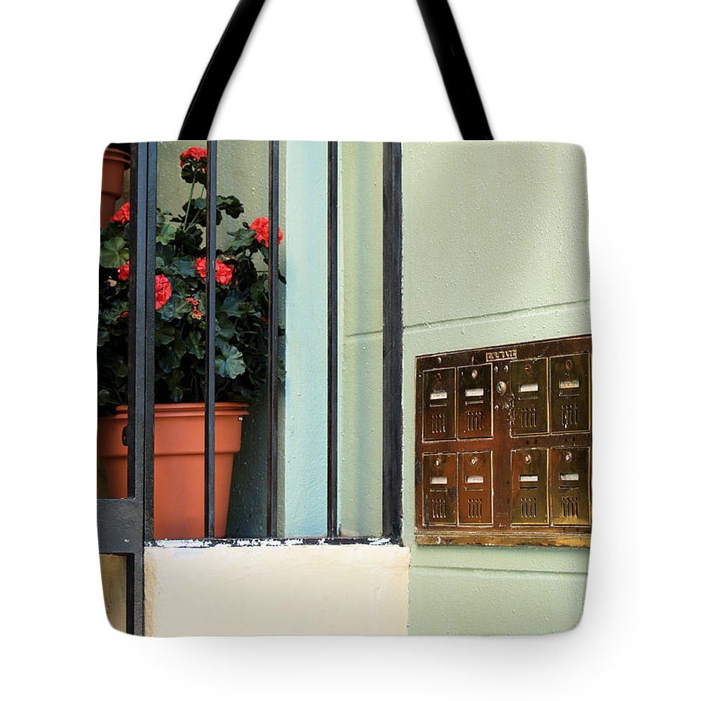 Mailboxes Tote Bag featuring the photograph Mailboxes by Nora Martinez