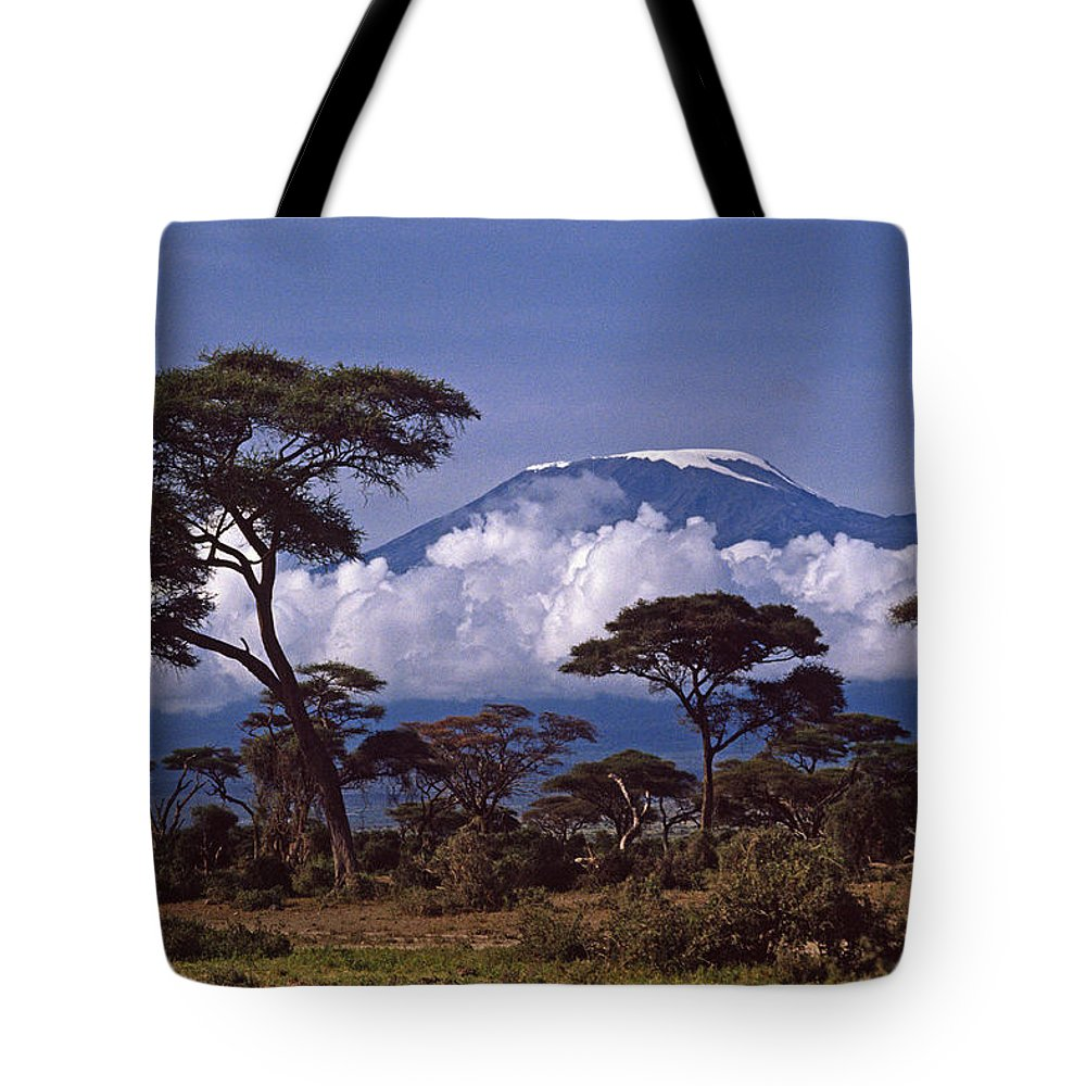 Africa Tote Bag featuring the photograph Majestic Mount Kilimanjaro by Michele Burgess