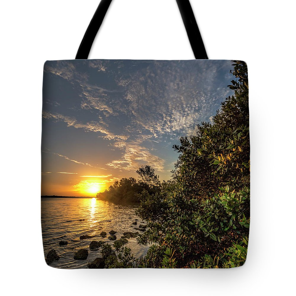 Mangrove Tote Bag featuring the photograph Mangrove Sunrise by Ronald Kotinsky