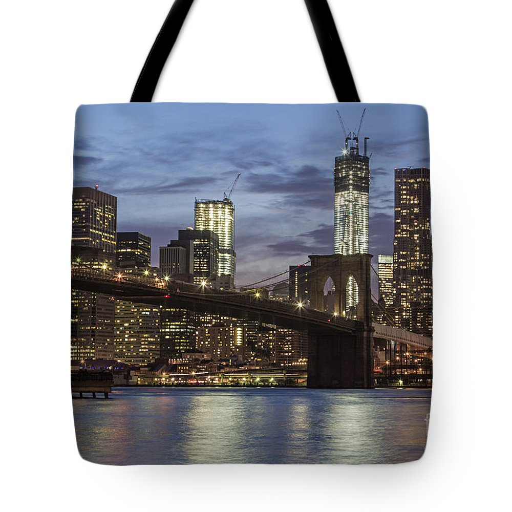 America Tote Bag featuring the photograph Manhattan Skyline New York by Juergen Held