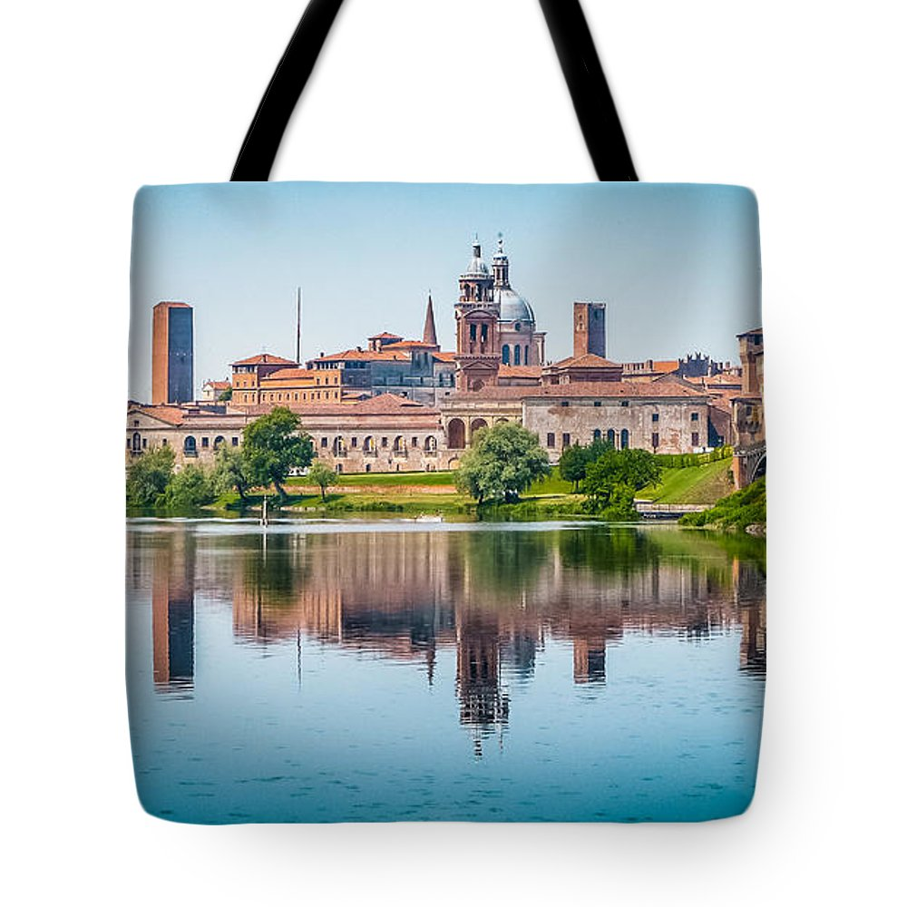 Andreas Hofer Tote Bag featuring the photograph Mantua Skyline by JR Photography