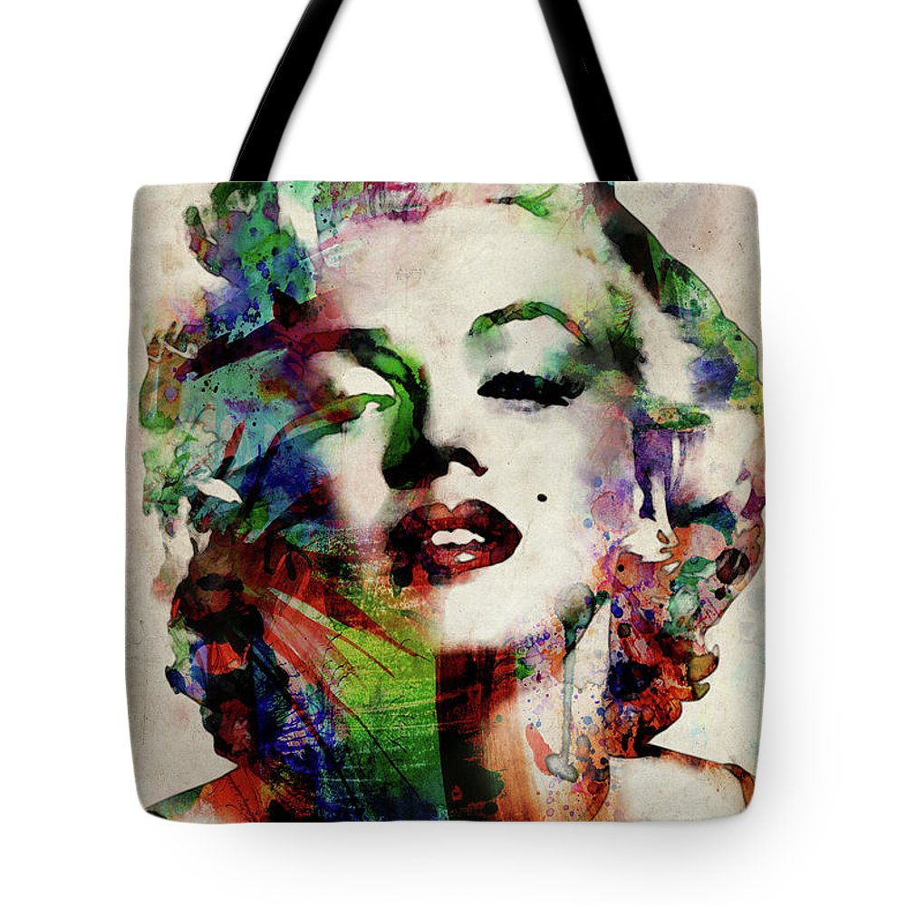 Marilyn Tote Bag featuring the digital art Marilyn by Michael Tompsett