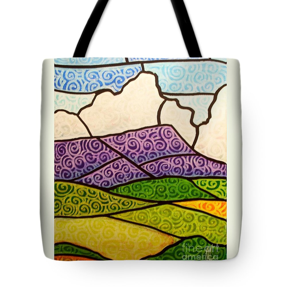 Mountians Tote Bag featuring the painting Massanutten Peak by Jim Harris
