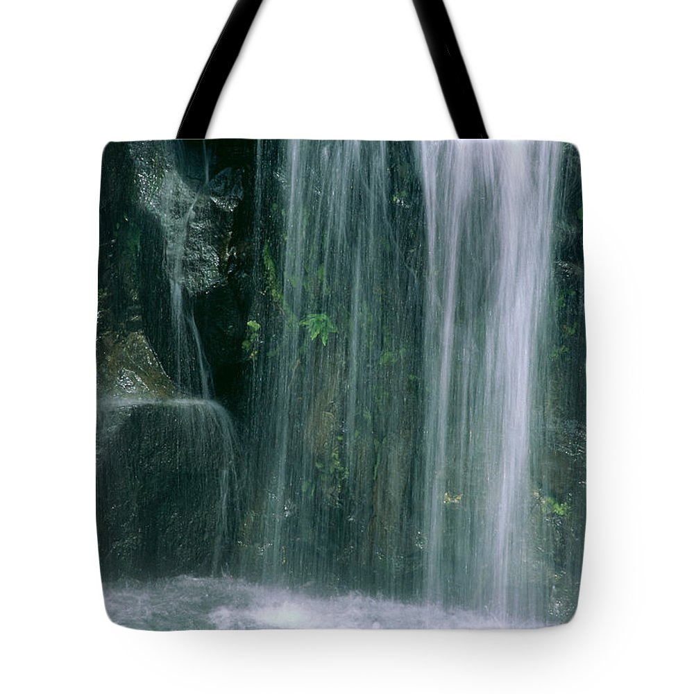 Active Tote Bag featuring the photograph Maui Waterfall by Himani - Printscapes