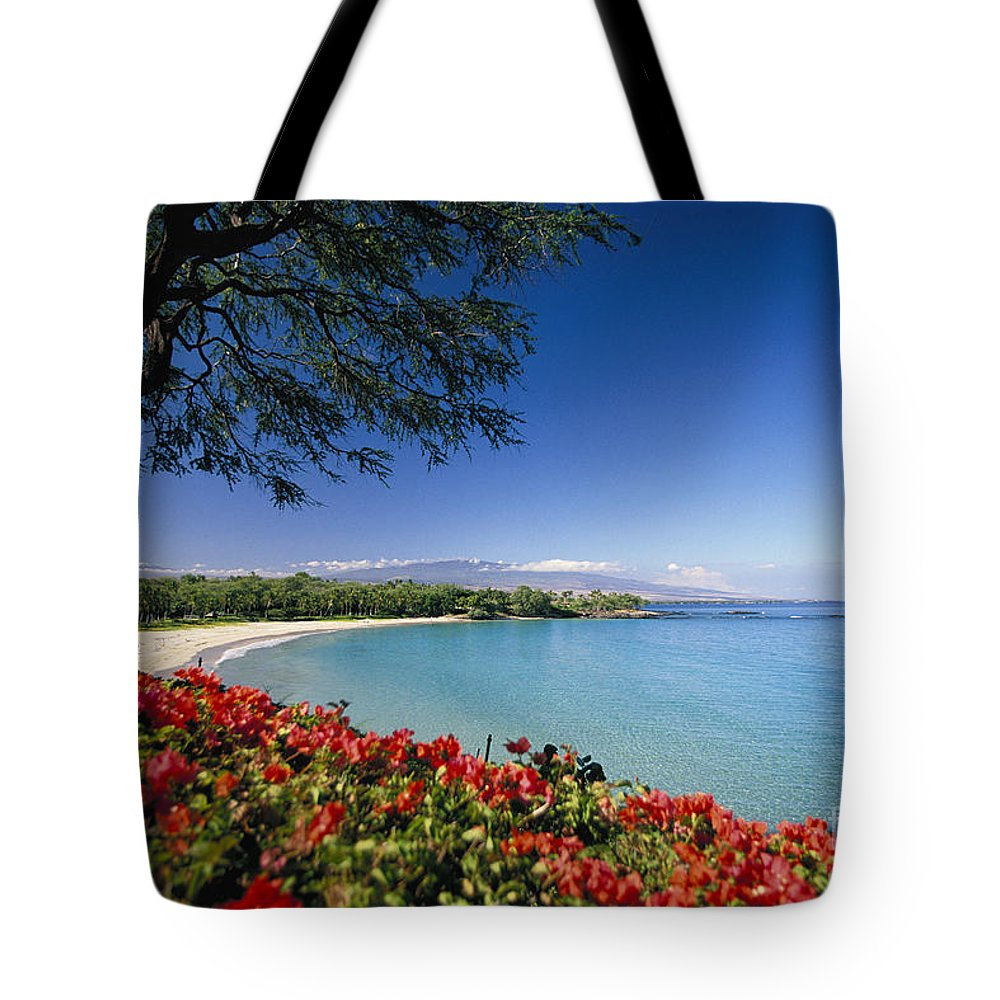 Afternoon Tote Bag featuring the photograph Mauna Kea Beach by Dana Edmunds - Printscapes