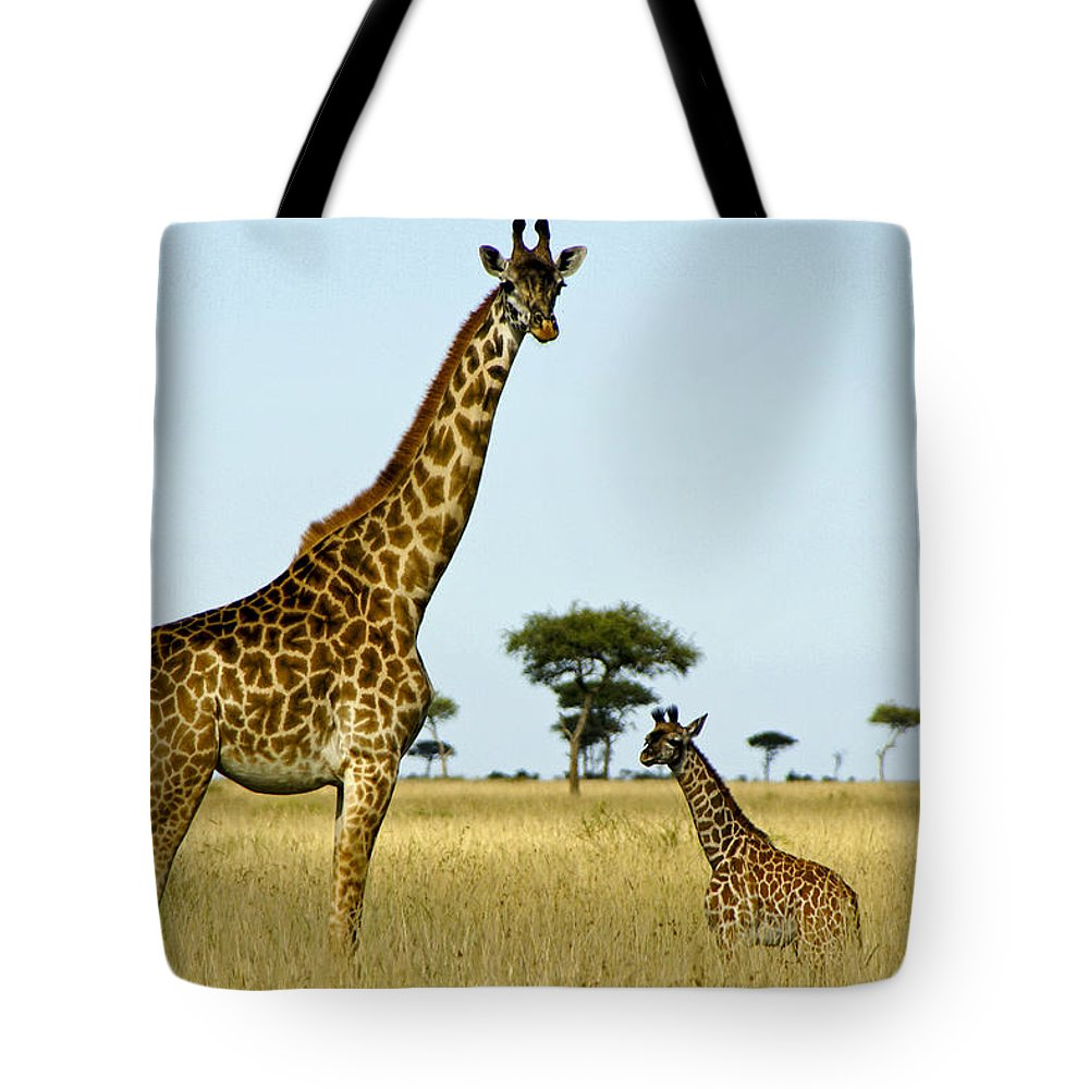 Africa Tote Bag featuring the photograph Meet My Little One by Michele Burgess