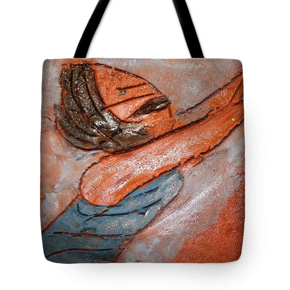 Jesus Tote Bag featuring the ceramic art Melissa - Tile by Gloria Ssali