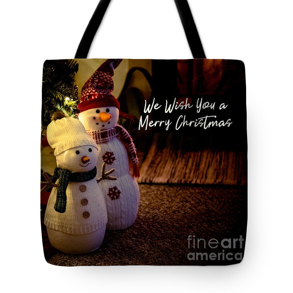 Greeting Card Tote Bag featuring the photograph Merry Christmas by Debbie Nobile