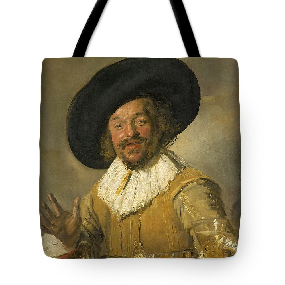 Baroque Tote Bag featuring the painting Merry Drinker by Frans Hals