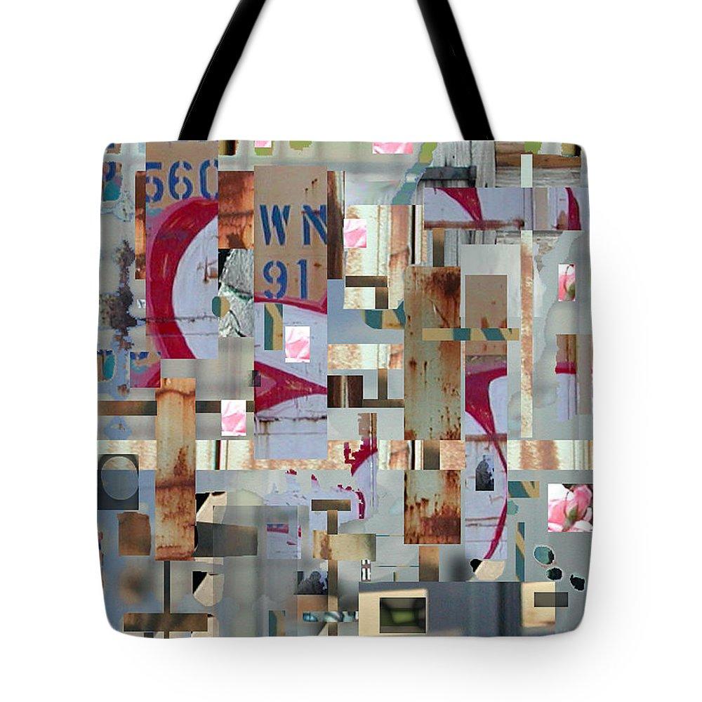 Abstract Tote Bag featuring the digital art Metropolis by Marc VanDermeer