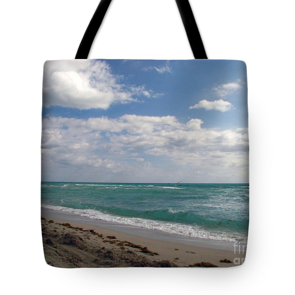 Miami Beach Tote Bag featuring the photograph Miami Beach by Amanda Barcon