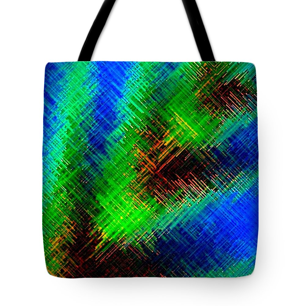 Micro Linear Tote Bag featuring the digital art Micro Linear 7 by Will Borden