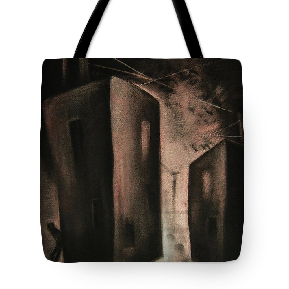 Pastel Drawing Tote Bag featuring the pastel Midnight by Alexandra Duhlinska