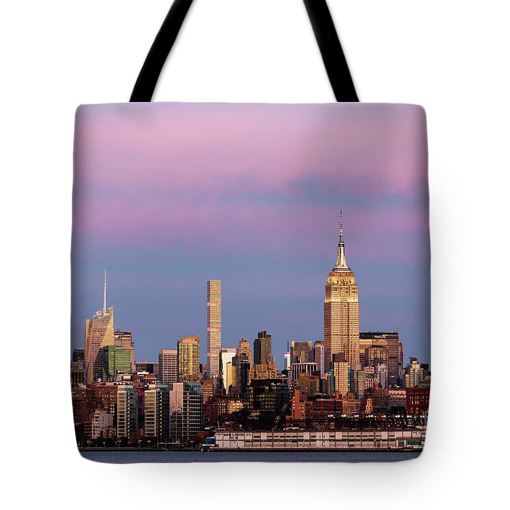 Manhattan Tote Bag featuring the photograph Midtown Manhattan by Zawhaus Photography