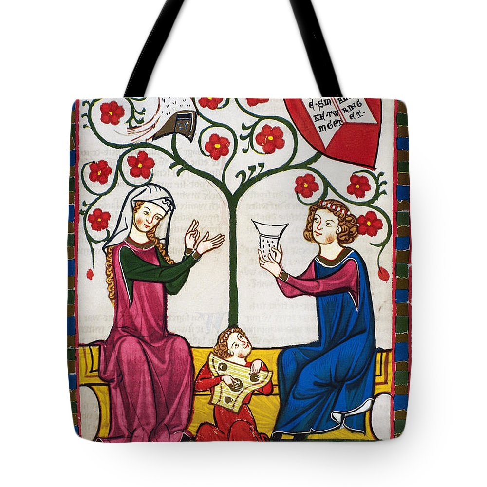 14th Century Tote Bag featuring the photograph Minnesinger Lieder by Granger