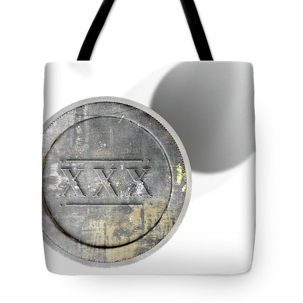 Alcohol Tote Bag featuring the digital art Moonshine Jar Vintage by Allan Swart