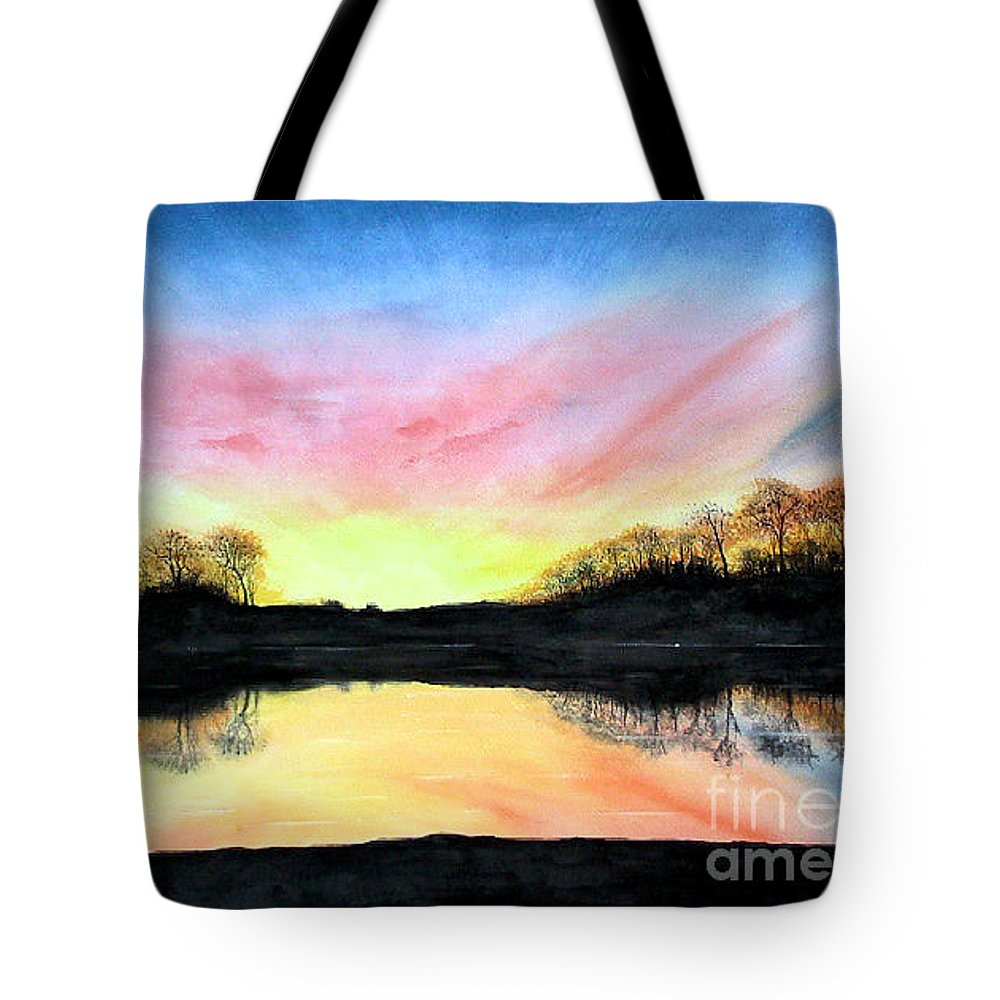 Peaceful Tote Bag featuring the painting Morning Glory by Mary Tuomi