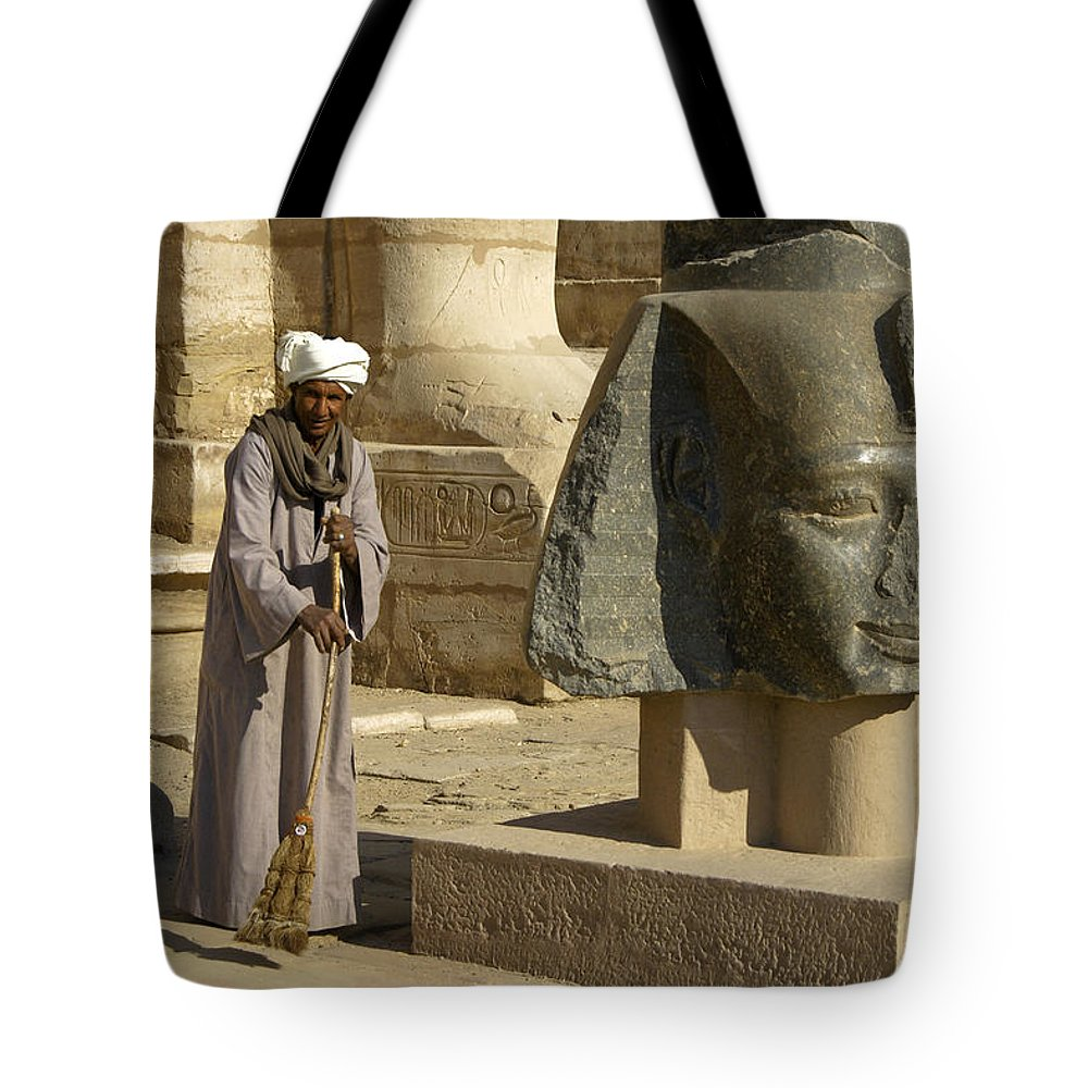 Egypt Tote Bag featuring the photograph Mortuary Temple Of Rameses II by Michele Burgess