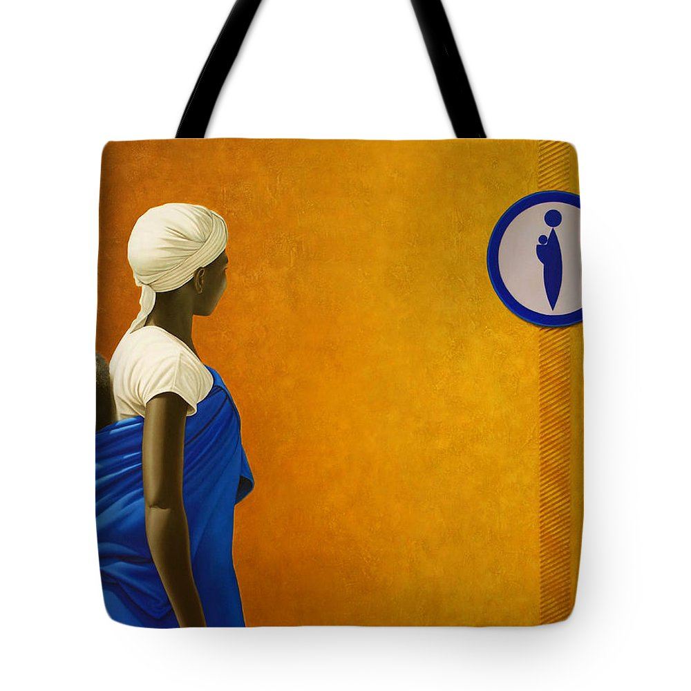Black Woman Tote Bag featuring the painting Mother by Horacio Cardozo