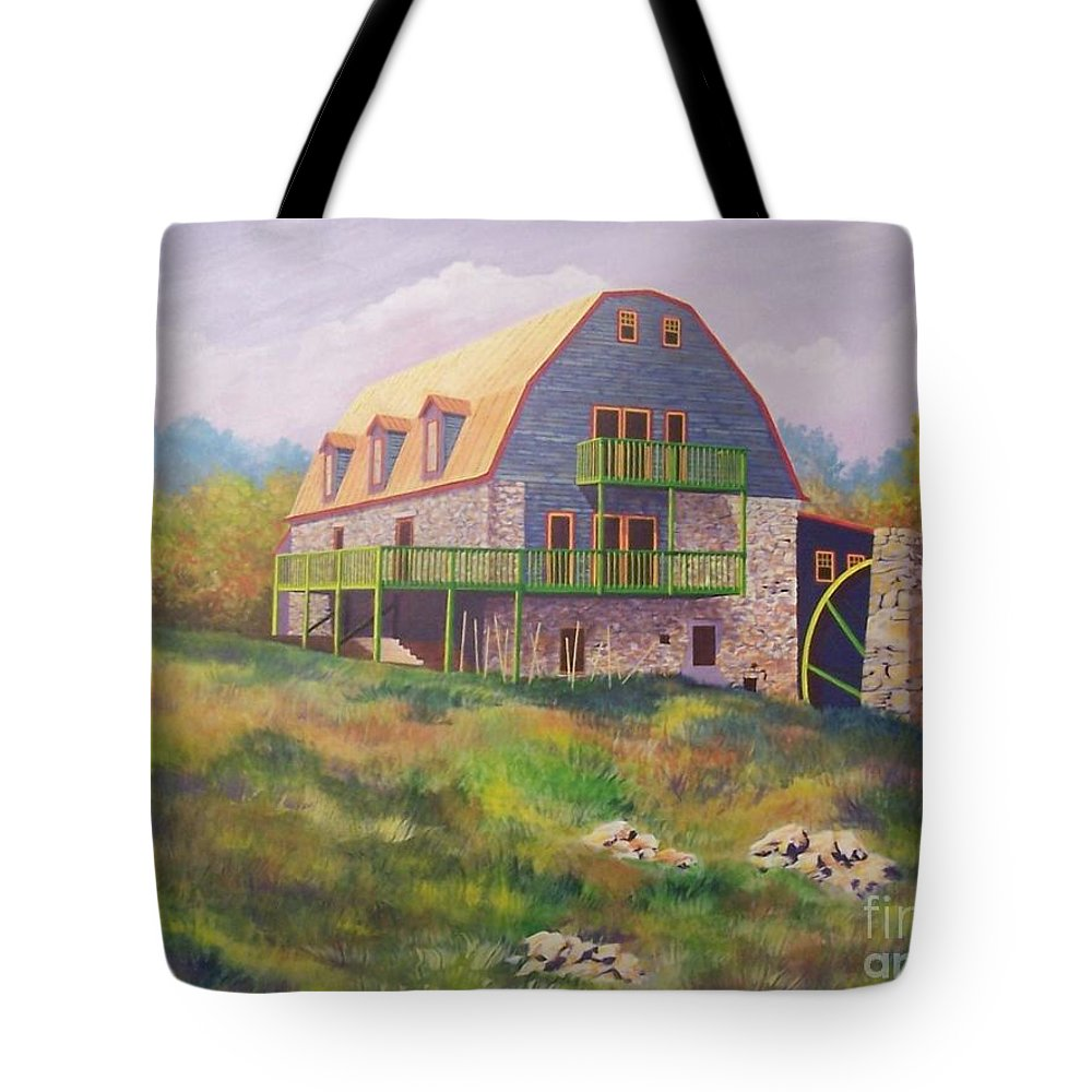 Mill Tote Bag featuring the painting Mountain Mill by Hugh Harris