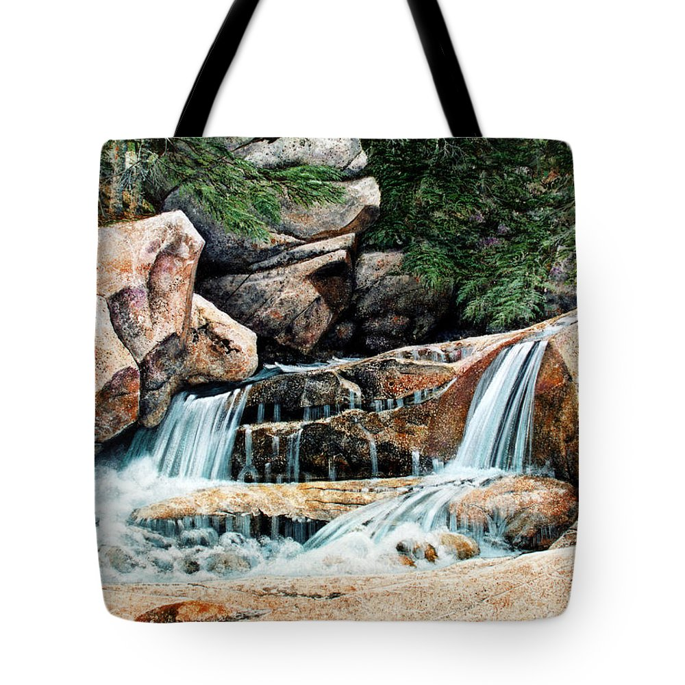 Landscape Tote Bag featuring the painting Mountain Stream by Frank Wilson
