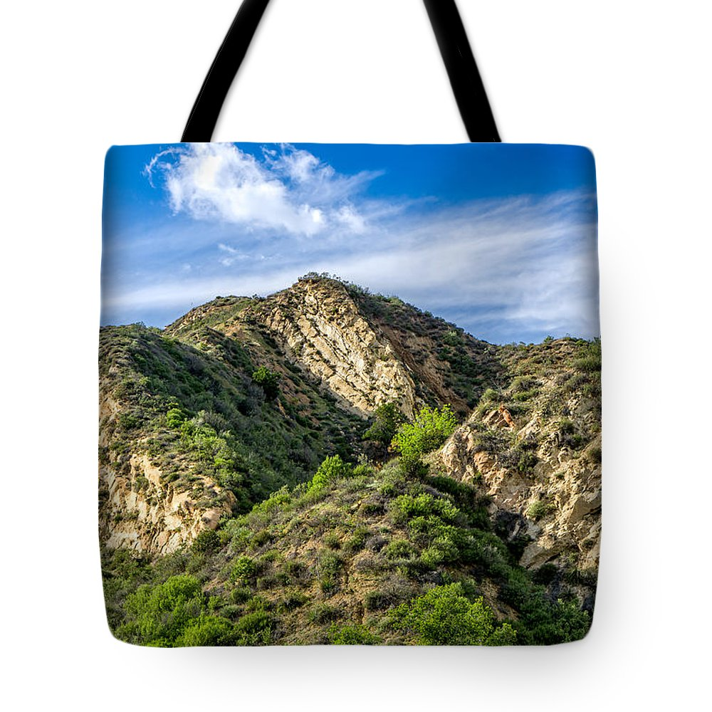 Beautiful Tote Bag featuring the photograph Mountains At Towsley Canyon In Southern California by Ken Wolter