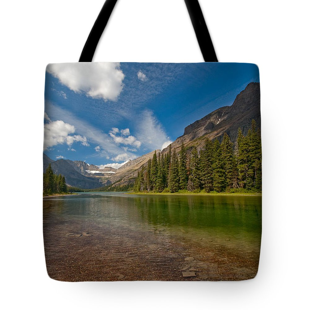 Nature Tote Bag featuring the photograph Moutain Lake by Sebastian Musial