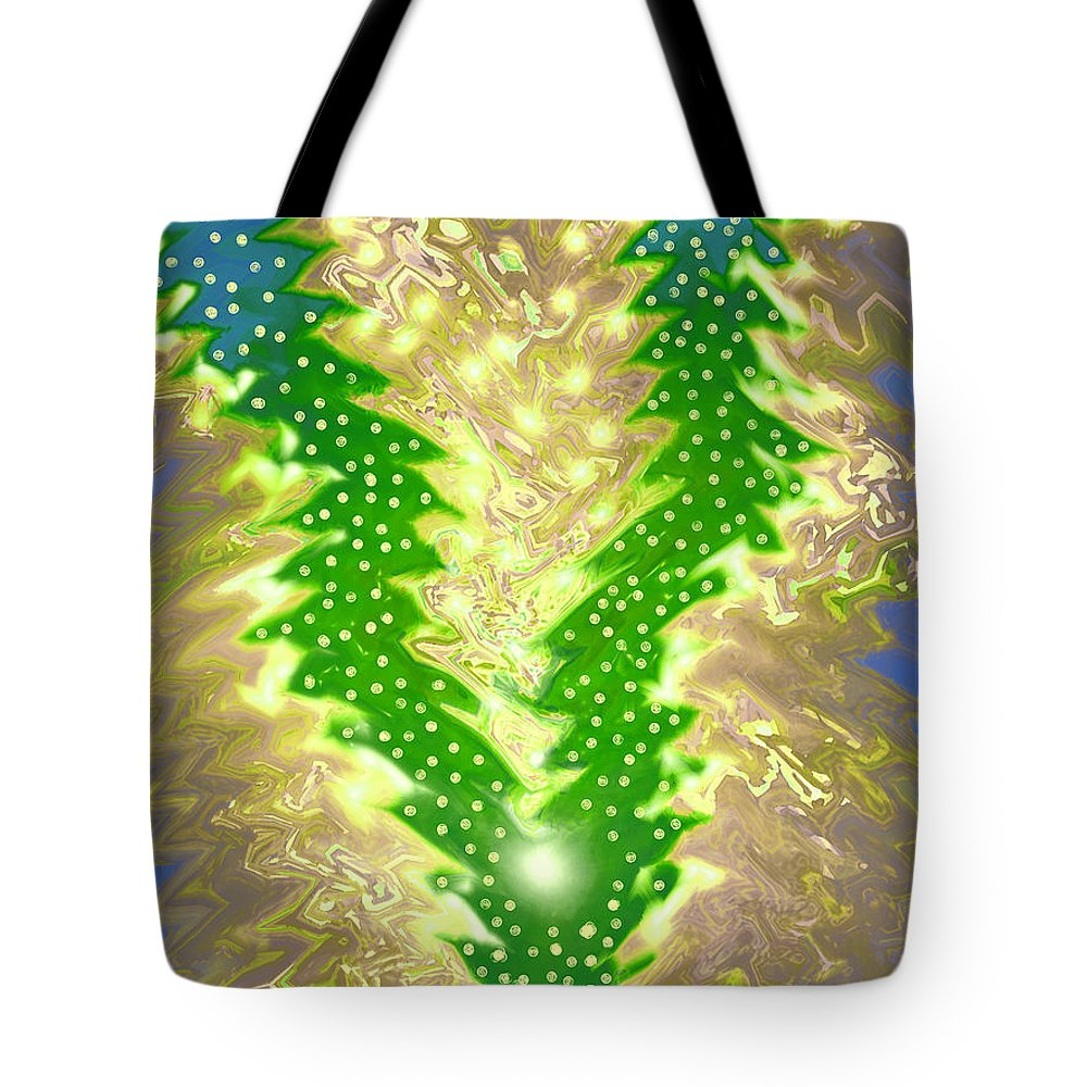 Moveonart! Digital Gallery Tote Bag featuring the digital art MoveOnArt Christmas 2009 Collection Victory Tree by Jacob Kanduch
