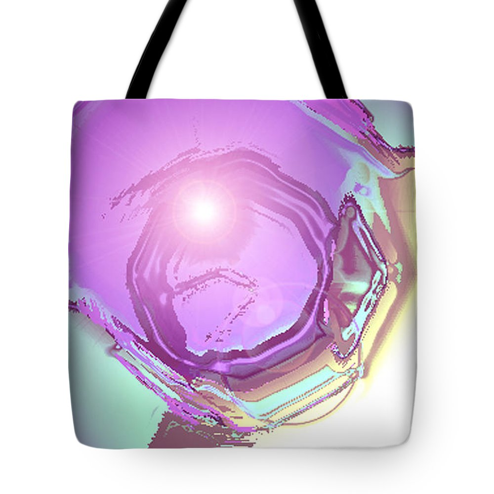 Moveonart! Digital Gallery Tote Bag featuring the digital art MoveOnArt Inspiration Intuition Intellect by Jacob Kanduch