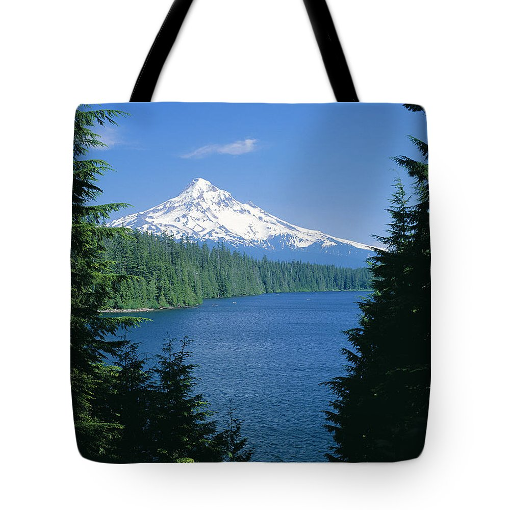 Amaze Tote Bag featuring the photograph Mt. Hood National Forest by Greg Vaughn - Printscapes