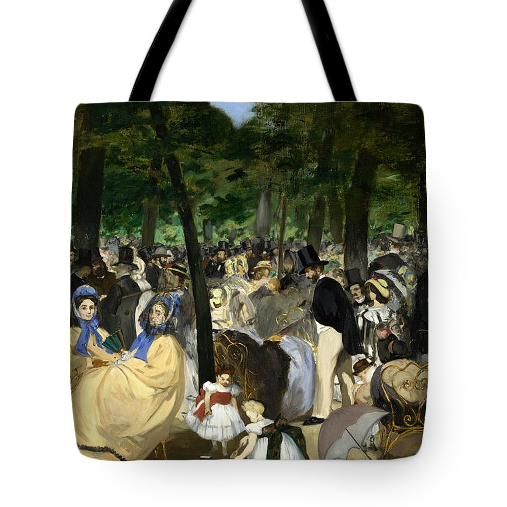 Arts Tote Bag featuring the painting Music In The Tuileries by Edouard Manet