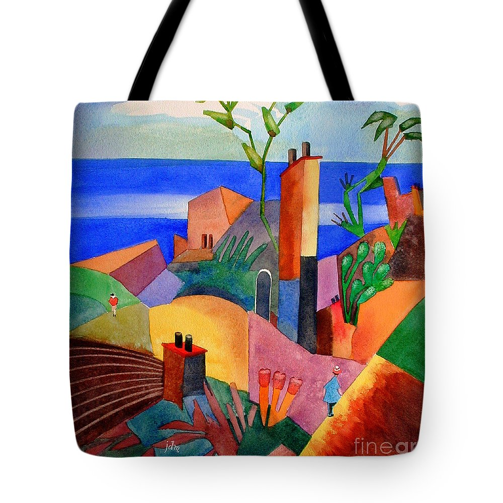 Bright Tote Bag featuring the painting My Dream Vacation by John Mabry