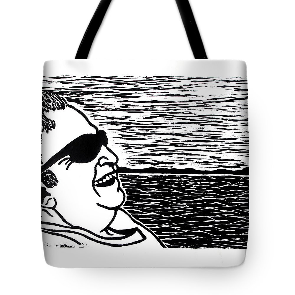 Portrait Tote Bag featuring the painting My Grandfather by Tara Tyson