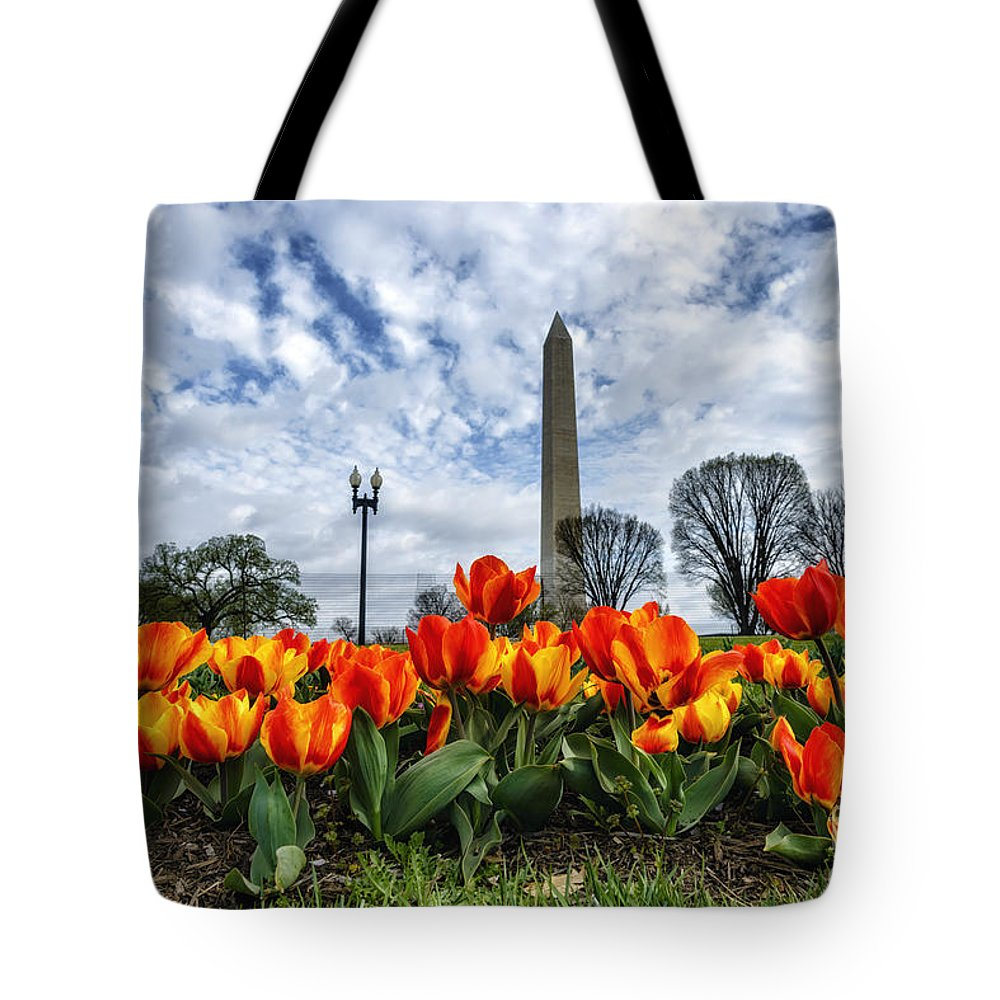 Tulip Library Tote Bag featuring the photograph National Park Service Floral Library by Thomas R Fletcher