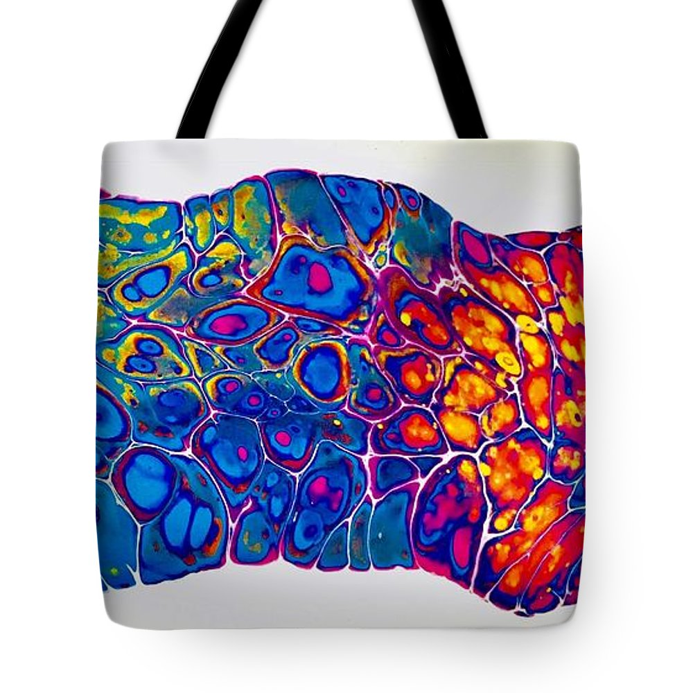 Acrylic Tote Bag featuring the mixed media A Creature by B R Wiatrek