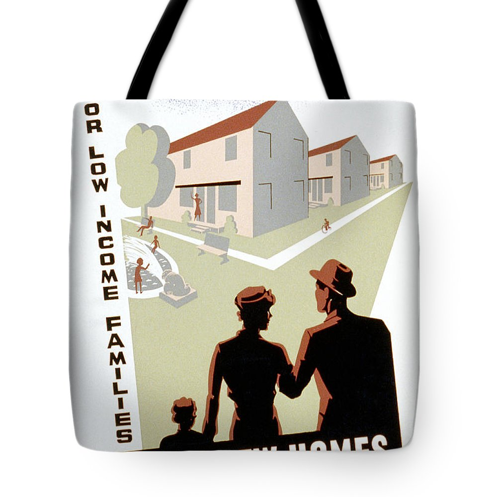 1936 Tote Bag featuring the photograph New Deal: Wpa Poster by Granger