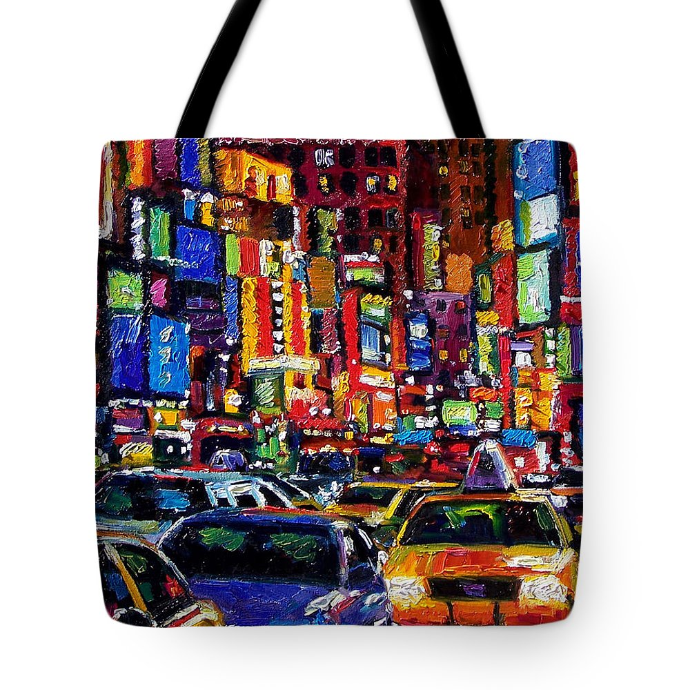New York City Tote Bag featuring the painting New York City by Debra Hurd