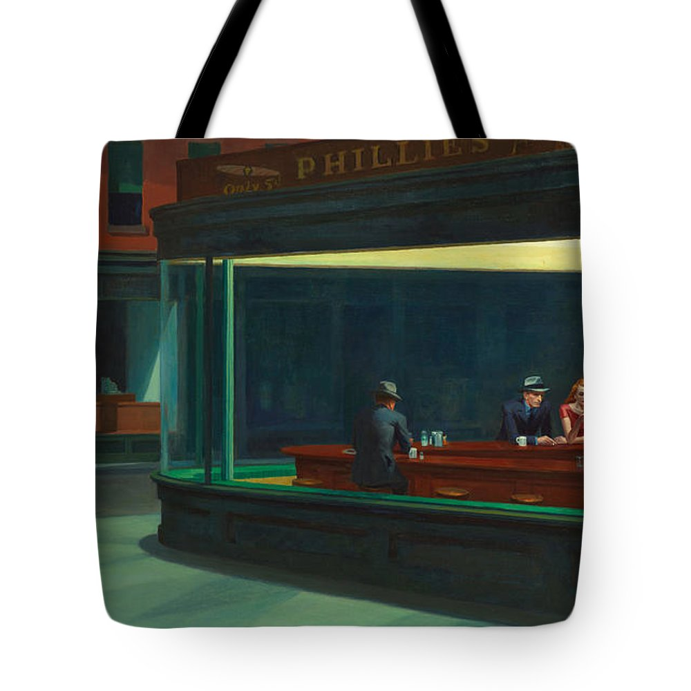 Nighthawks Tote Bag featuring the photograph Nighthawks by Edward Hopper