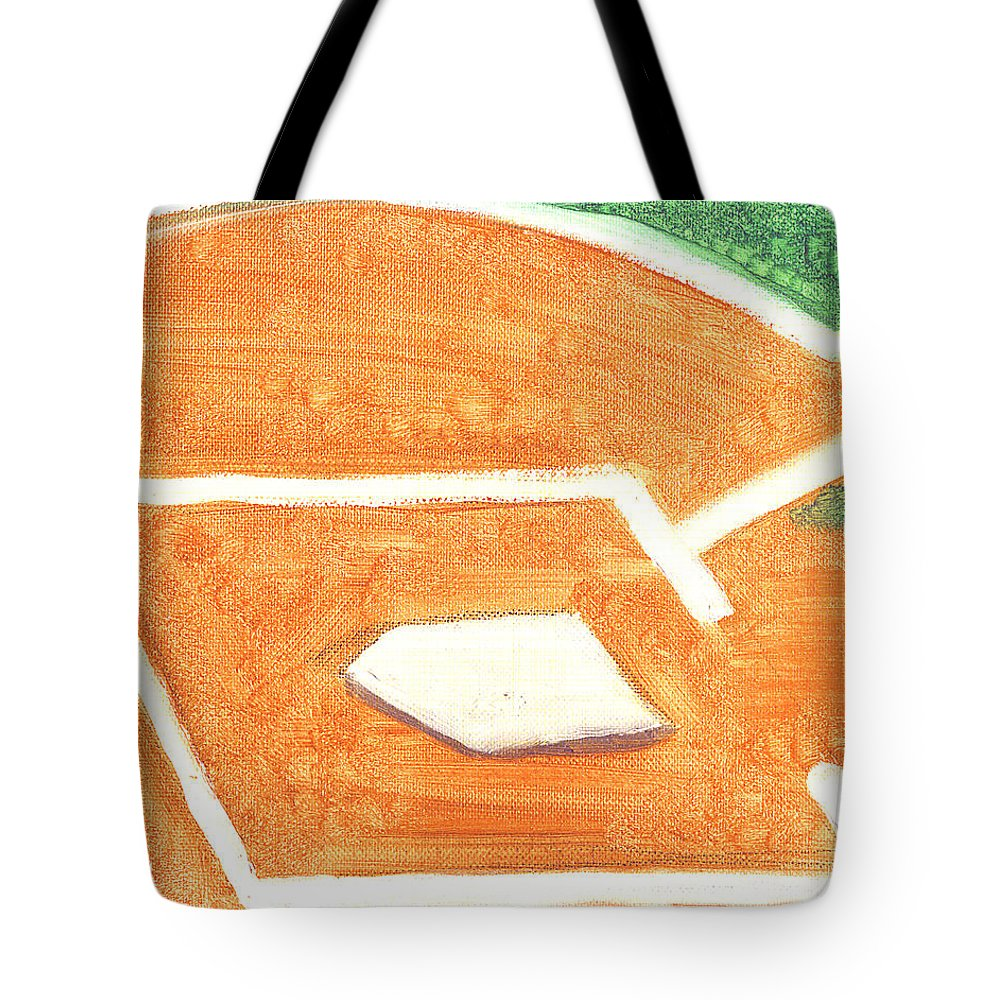 Baseball Tote Bag featuring the painting No Place Like Home by Jorge Delara