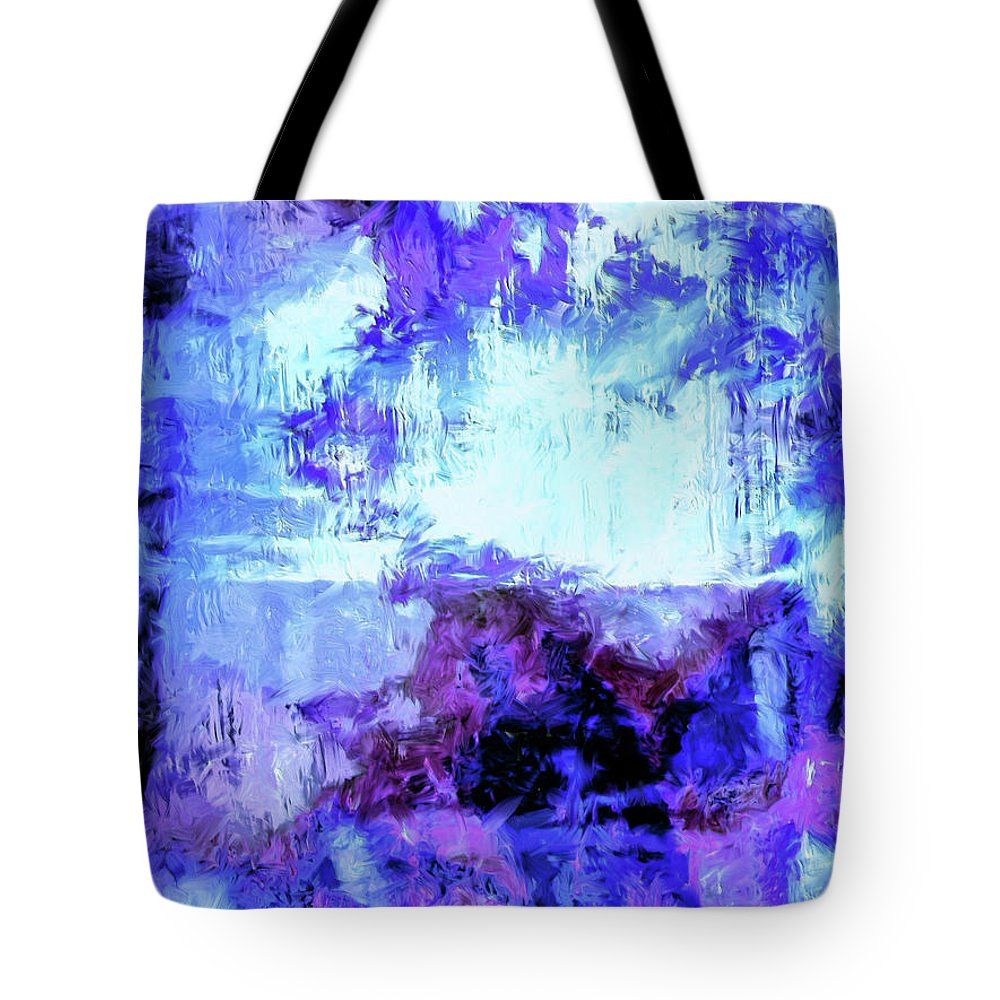 Abstract Tote Bag featuring the painting Nocturne by Dominic Piperata