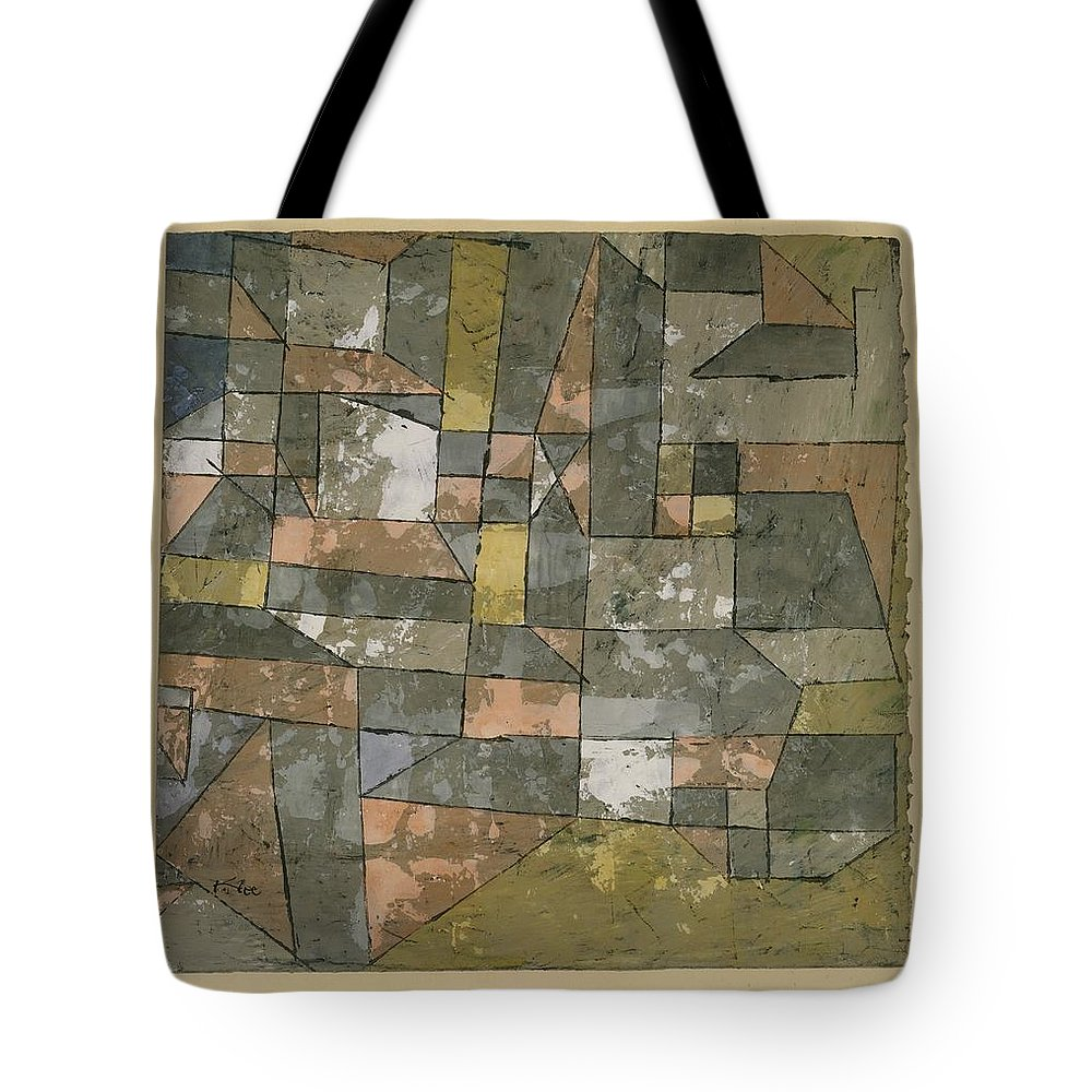Paul Klee North German City Tote Bag featuring the painting North German City by Paul Klee