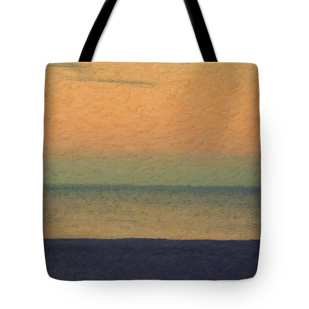 �not Quite Rothko� Collection By Serge Averbukh Tote Bag featuring the photograph Not quite Rothko - Breezy Twilight by Serge Averbukh