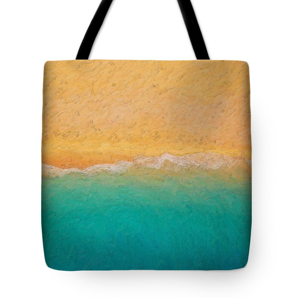 �not Quite Rothko� Collection By Serge Averbukh Tote Bag featuring the photograph Not quite Rothko - Surf and Sand by Serge Averbukh