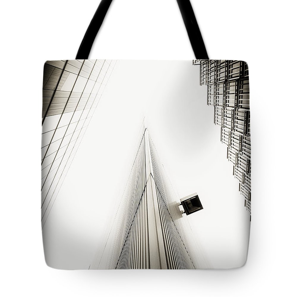 Clouds Tote Bag featuring the photograph Not The Shard by Lenny Carter