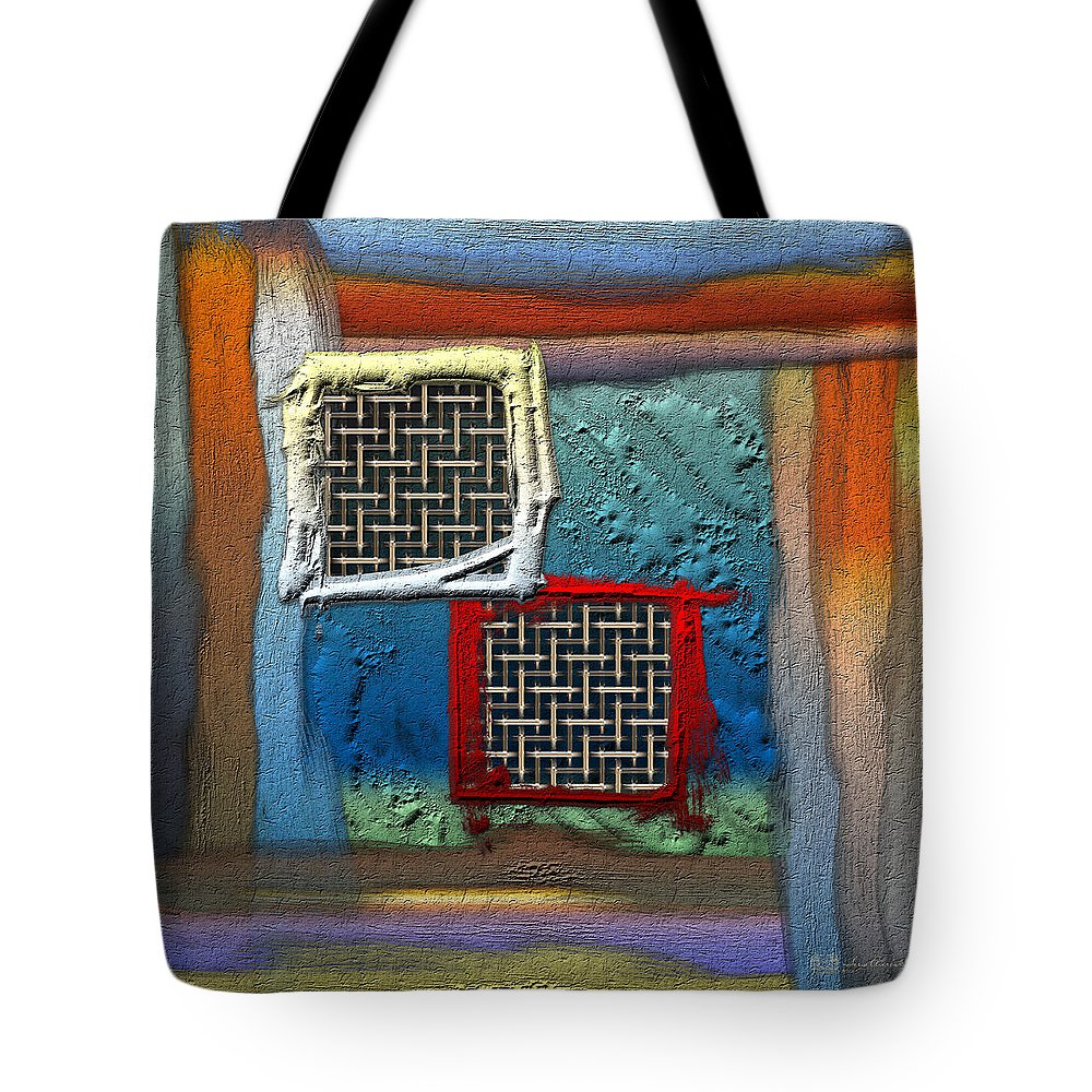 'abstracts Plus' Collection By Serge Averbukh Tote Bag featuring the photograph Obstructed Ocean View by Serge Averbukh