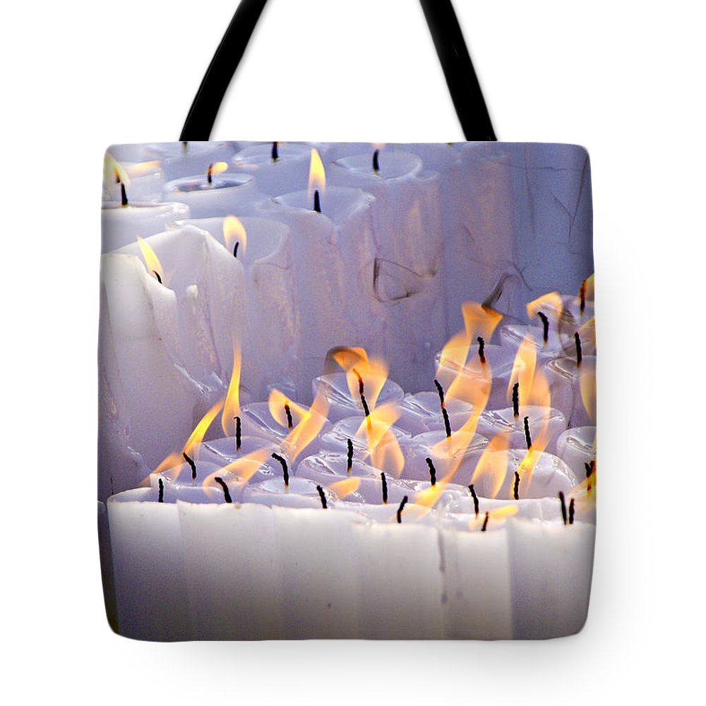 Candles Tote Bag featuring the photograph Offering by Michele Burgess
