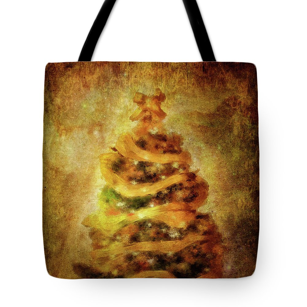 Christmas Tote Bag featuring the digital art Oh Christmas Tree by Lois Bryan