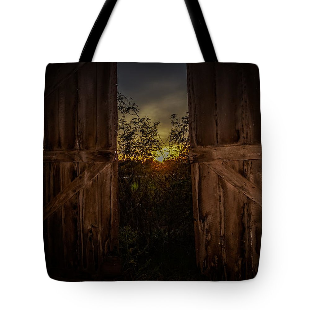 Tote Bag featuring the photograph Old Barns by Sunshine Nelson